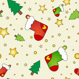Christmas texture with stockings Stock Images