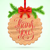 Christmas Thank you card Stock Photography