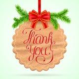 Christmas Thank you card Stock Photography