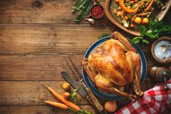 Christmas or Thanksgiving turkey royalty free stock image