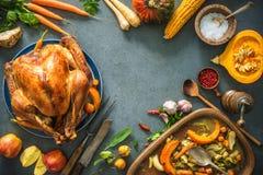Christmas or Thanksgiving turkey stock image