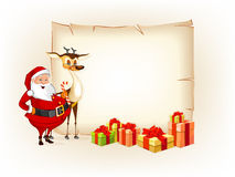 Christmas thematic new year parchment Royalty Free Stock Image