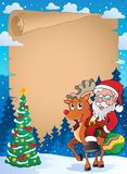Christmas thematic parchment 2 Royalty Free Stock Photography