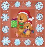 Christmas thematics greeting card 2 Stock Image