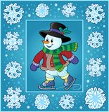 Christmas thematics greeting card Stock Images
