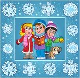 Christmas thematics greeting card 9 Royalty Free Stock Image