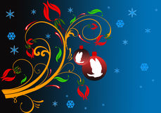 Christmas theme. Abstract  illustration for design Royalty Free Stock Image