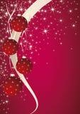 Christmas theme. Pink background with christmas ball. Vector EPS10 Stock Photo