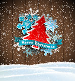 Christmas theme, abstract tree and snowflakes on Royalty Free Stock Photography