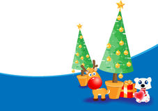 Christmas theme background. For your advert message Stock Images