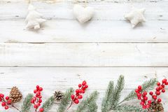 Christmas theme background with decorating stock image