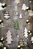 Christmas theme background in vintage style royalty free stock image