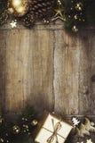 Christmas theme background in vintage style stock photos