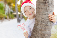 Christmas theme at the beach Stock Images