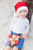 Christmas theme at the beach Royalty Free Stock Photography
