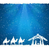 Christmas theme on blue background Royalty Free Stock Photography