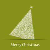 Christmas theme with christmas tree. In green background. Vector Stock Photos