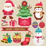 Christmas theme clip art set Royalty Free Stock Photos