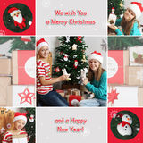 Christmas theme collage. Happy children with toys near Christmas tree. Gifts Royalty Free Stock Photo
