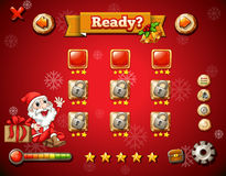 Christmas theme on computer game Stock Images