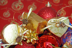 Christmas Theme Decorations Stock Image