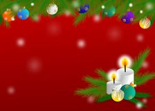 Christmas theme design for greeting card Royalty Free Stock Images