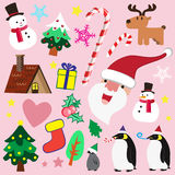 Christmas theme element for love Royalty Free Stock Image