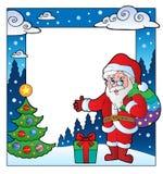 Christmas theme frame 2. Vector illustration Stock Image