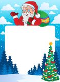 Christmas theme frame Royalty Free Stock Image