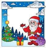 Christmas theme frame 3 Royalty Free Stock Photos