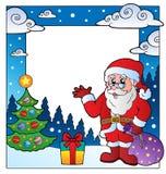 Christmas theme frame 3. Vector illustration Royalty Free Stock Photos