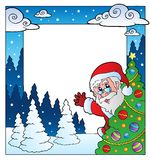 Christmas theme frame 4 Stock Image