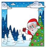 Christmas theme frame 4. Vector illustration Stock Image