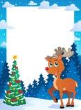 Christmas theme frame 5. Vector illustration Stock Photography
