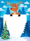 Christmas theme frame 8. Vector illustration Royalty Free Stock Photo