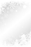Christmas theme frame in silver. With copy space Royalty Free Stock Images