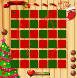 Christmas theme game with red and green Royalty Free Stock Photo