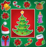 Christmas theme greeting card 1 Stock Image