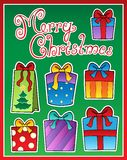 Christmas theme greeting card 2 Stock Image