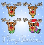 Christmas theme greeting card 6 Royalty Free Stock Photos