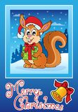 Christmas theme greeting card 8 Stock Images