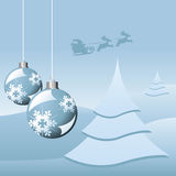 Christmas theme in light blue Stock Photography