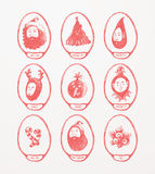 Christmas Theme Medallions Royalty Free Stock Photography