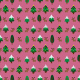 Christmas theme pinetree and reindeer seamless pattern Stock Image