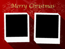 Christmas theme polaroid photo templates 2-5 Stock Images