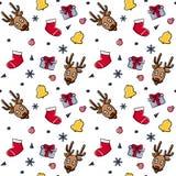 Christmas theme random repeat pattern vector illustration Royalty Free Stock Image