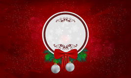 Christmas theme red background with Copy space Royalty Free Stock Images