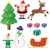 Christmas theme set. Royalty Free Stock Photo