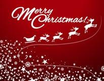 Christmas theme with sledge Royalty Free Stock Photo