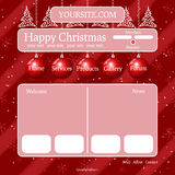 Christmas theme template Stock Images